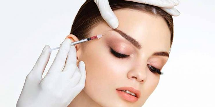 Beautiful woman gets injections. Cosmetology. Beauty Face